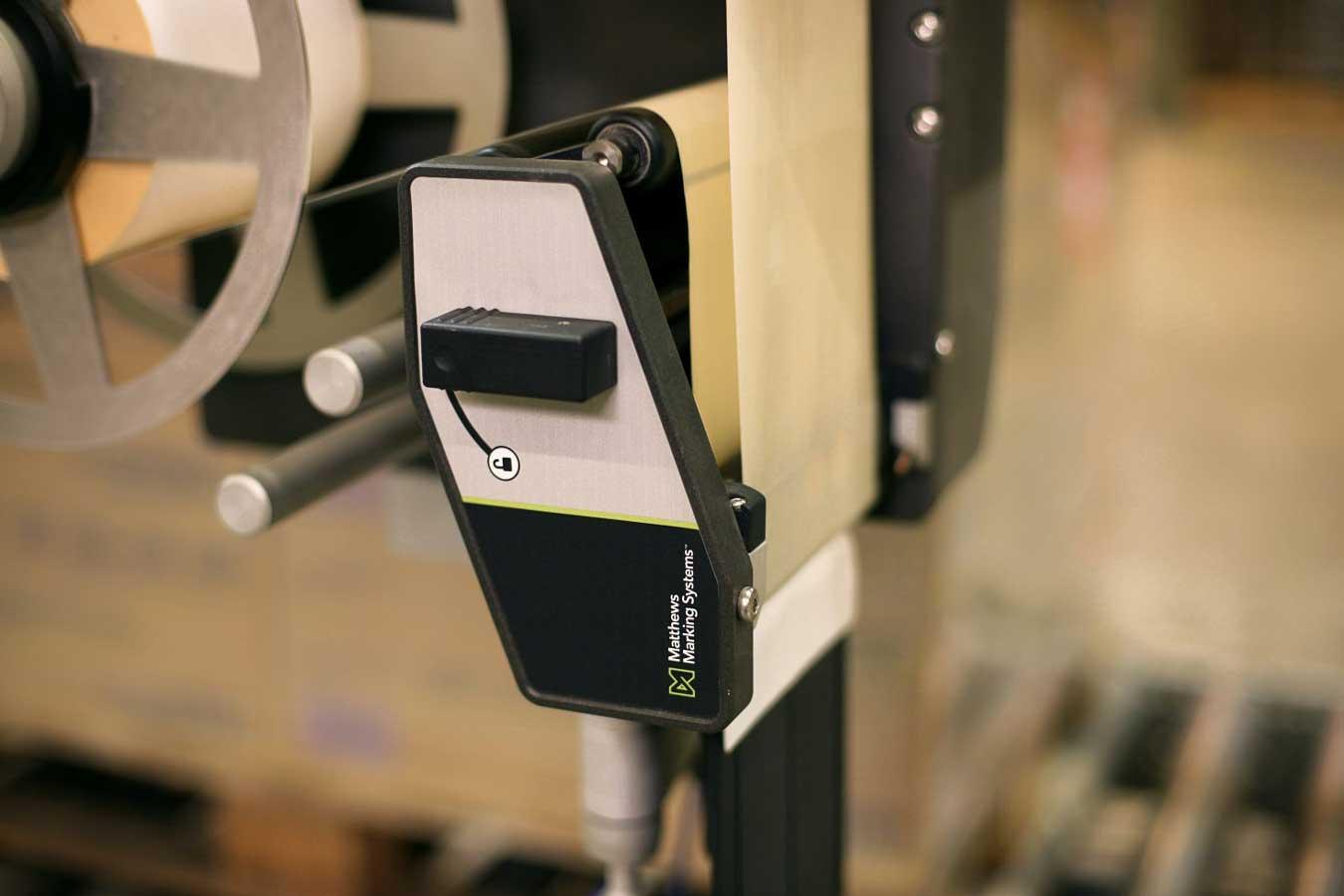Der Drucker eines Etikettiersystems